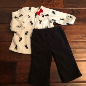Winter fleece baby outfit